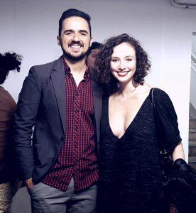 O diretor Wllyssys Wolfgang e a atriz protagonista, Juliana Lourenção